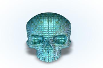 Baby Blue Tile Skull Series II