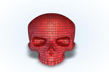 Red Tile Skull Series II