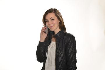 Bella ragazza al telefono
