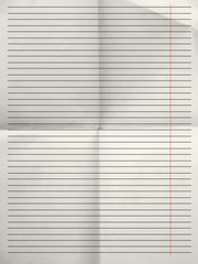 Old sheet of lined paper background with margin