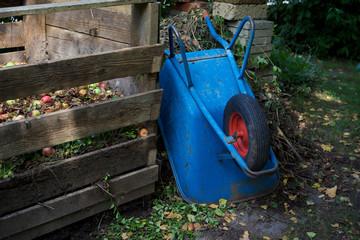 Schiebetruhe und Kompost