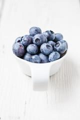Fresh blueberry fruits