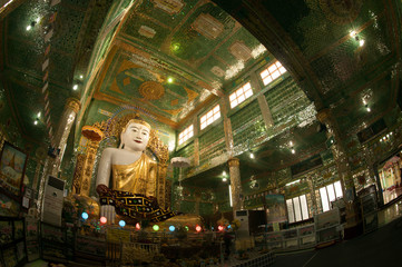 The seated Buddha in Soon U Pone Nya Shin Paya,Myanmar.