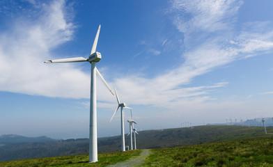 Onshore wind farm in a wide landscape