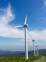 Wind turbines in Galicia, Spain