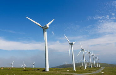 Onshore wind farm - large wind turbines