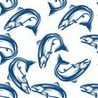 Salmon fish seamless pattern