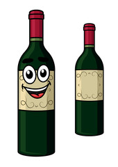 Cartoon wine bottle