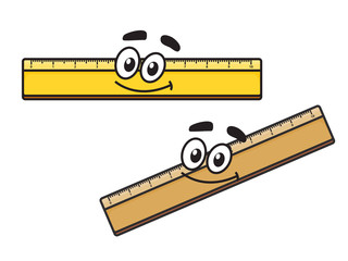 Cartoon long school ruler