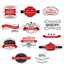 High quality product banners and labels