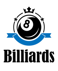 Billiards and pool emblem