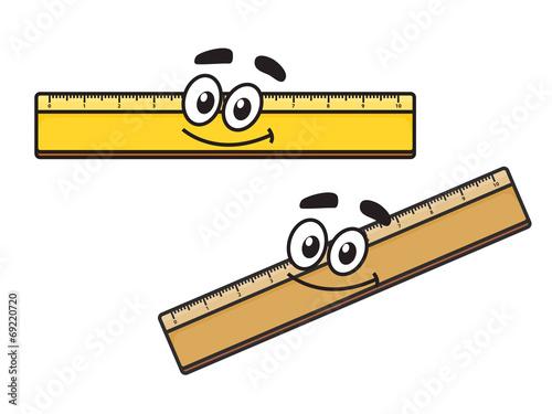 Cartoon long school ruler - 69220720