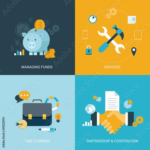 Flat vector illustration concept money finance - 69220954