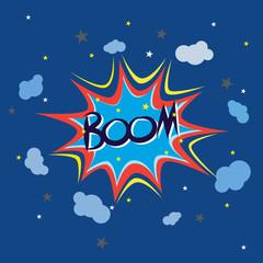 Boom comic speech, vector format