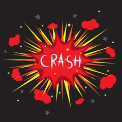 Crash comic speech, vector format