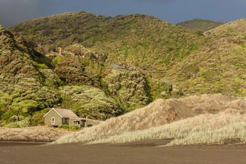 wooden shelter at Waitakere Ranges, New Zealand