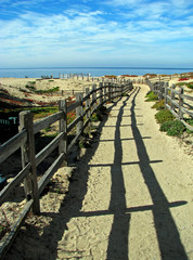Pathway to Ocean on Monterey Bay Beach California