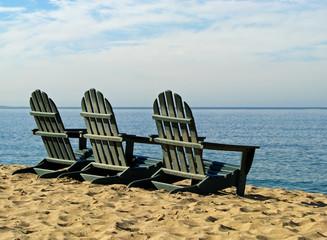Adirondack Beach Chairs on Monterey Bay Beach California