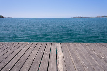 Pier on Issyk-Kul Lake