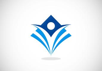 success people sport fitness vector logo