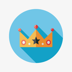crown flat icon with long shadow,eps10
