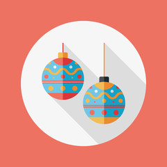 christmas ball flat icon with long shadow,eps10