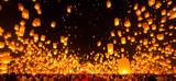 People release Paper Sky Lantern in Yee Peng Festival