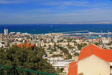 Mediterranean seaport of Haifa Israel