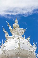 White buddha status, Rong Khun temple, Thailand