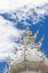 The White buddha status, Rong Khun temple, Thailand