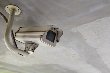 overhead CCTV Camera Operating