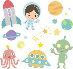 宇宙飛行士と宇宙人