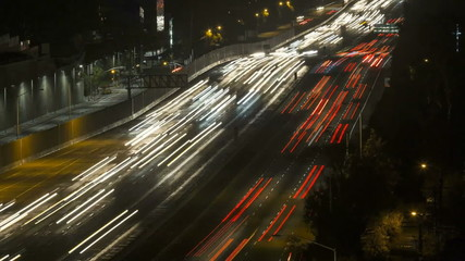 San Diego Freeway Los Angeles Night Tele Time Lapse