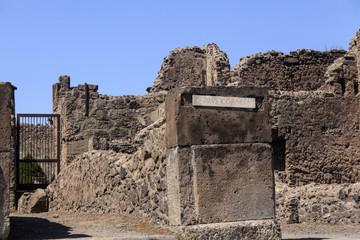 Haus des Domus Cornelia - Ruine in Pompeji