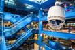 Leinwanddruck Bild - CCTV Camera Operating inside a station or department store
