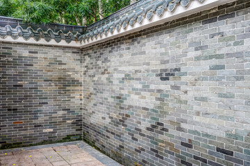 Old brick fence in Chinese style
