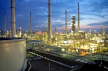 Bokeh at Oil refinery