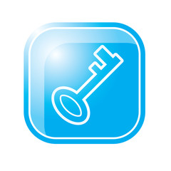 key icon on blue vector