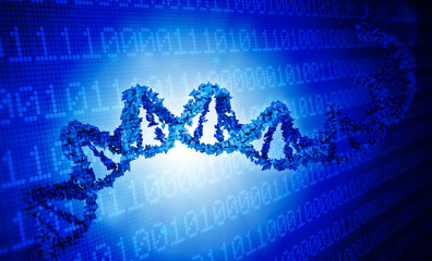 DNA genetics data concept