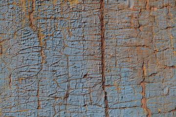 Cracked painted old wooden door