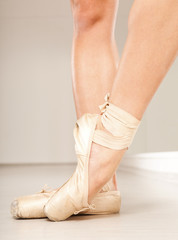 Beautiful ballerina legs with tiptoe