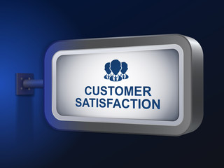 customer satisfaction words on billboard