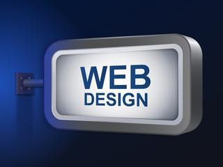 web design words on billboard
