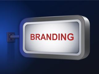 branding word on billboard