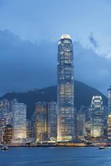 Hong Kong harbor at dusk