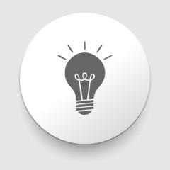 Electric lamp icon - vector illustration