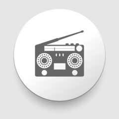 illustration of vintage radio tape recoreder