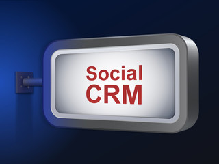 social CRM words on billboard