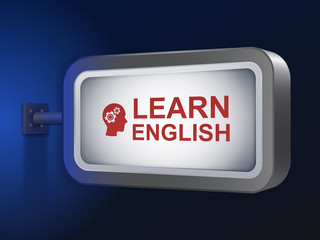 learn English words on billboard
