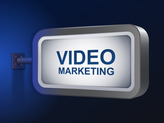 video marketing words on billboard